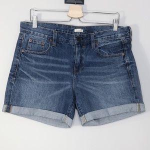 J. Crew  Denim Cuffed Shorts Size - 29